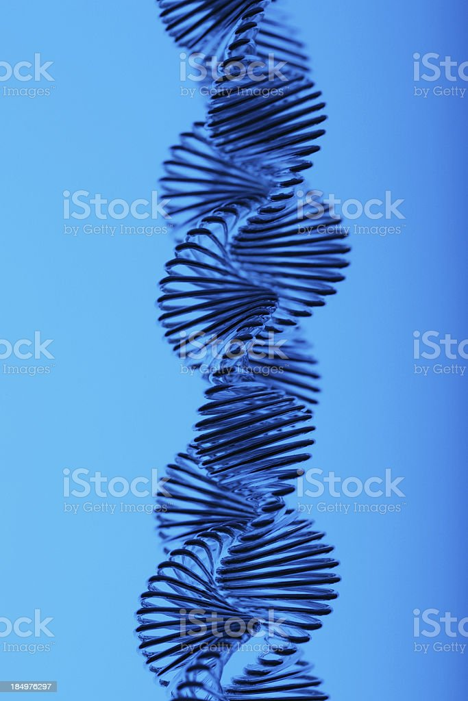 Double helix royalty-free stock photo
