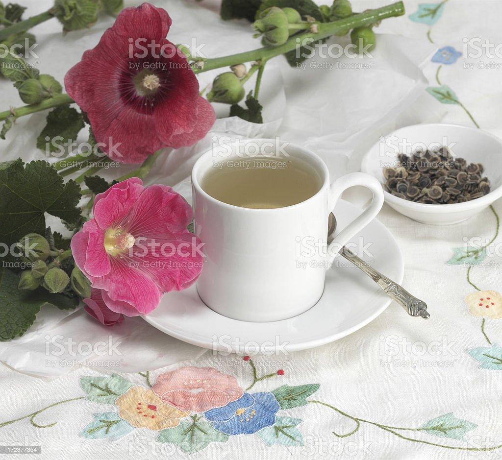 Double Hollyhock Tea stock photo