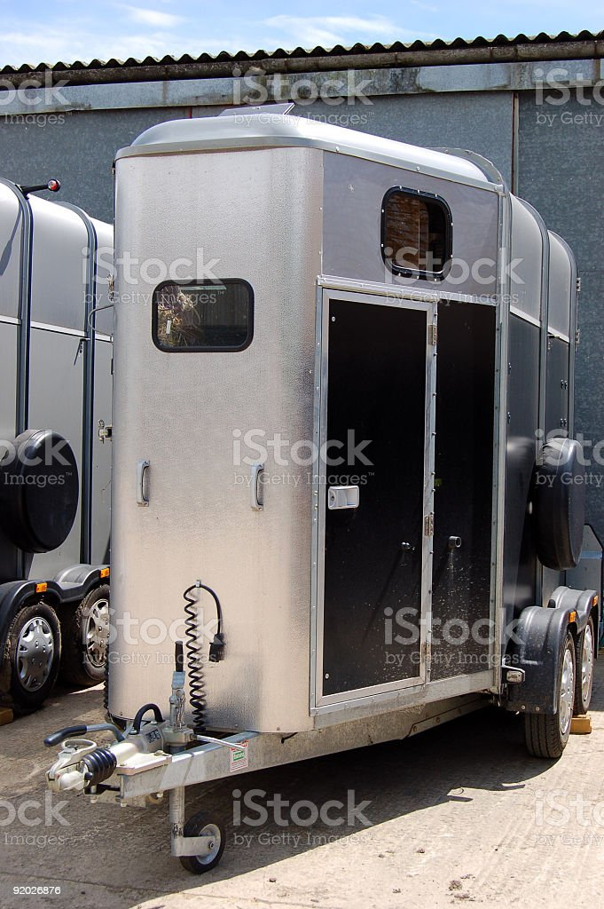 Double horse trailer royalty-free stock photo