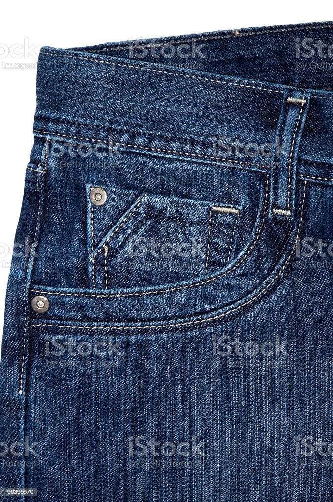 Double jeans pocket - Royalty-free Acid Washed Stock Photo