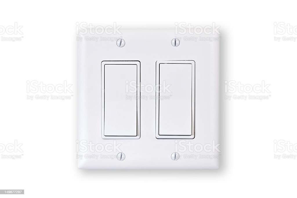 double light switch stock photo