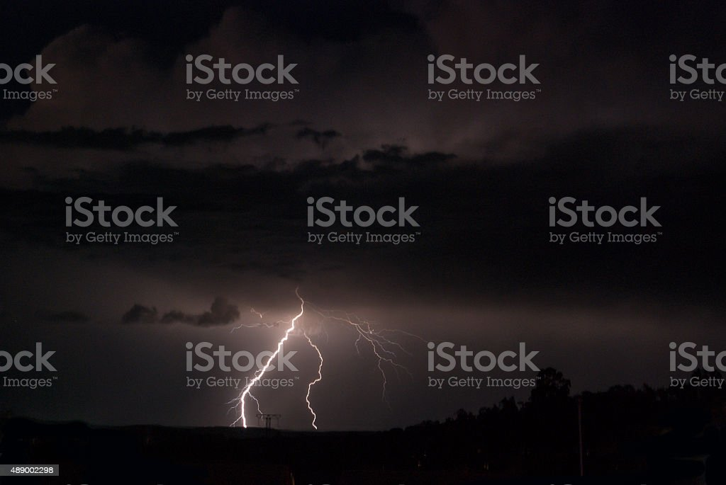 Double lightning strike royalty-free stock photo