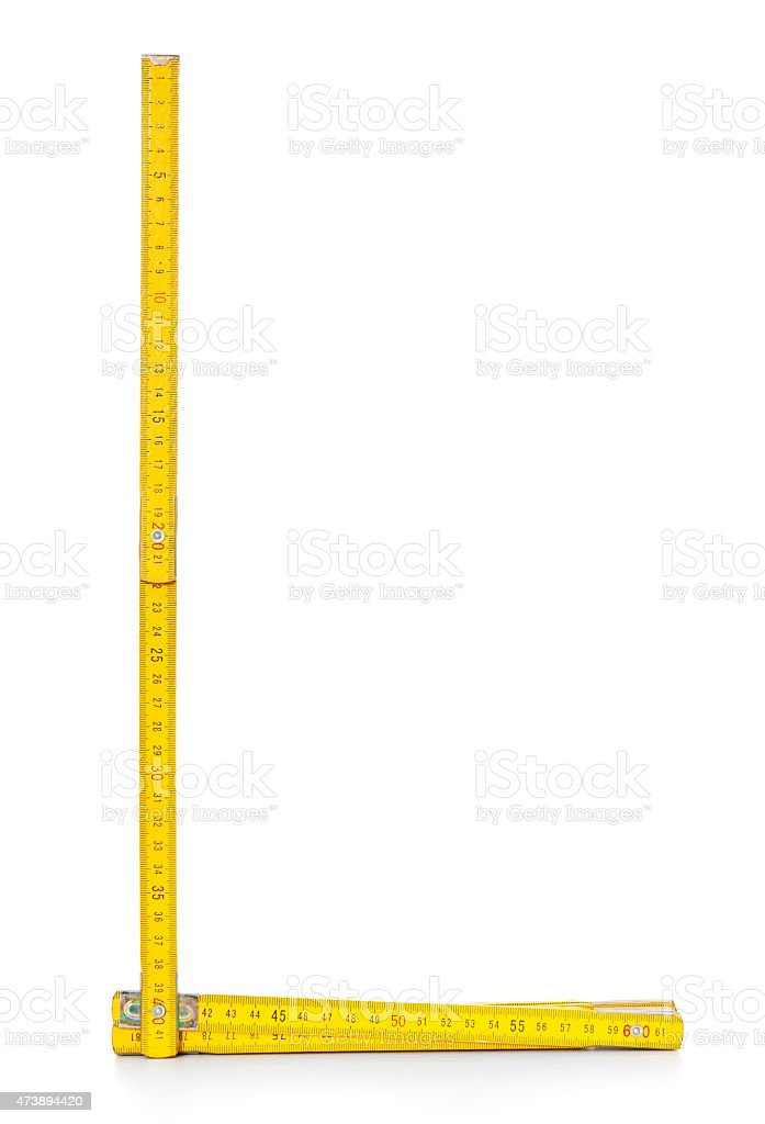 Double meter stick stock photo