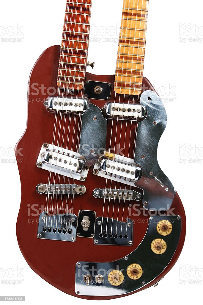 Double Neck Guitar royalty-free stock photo