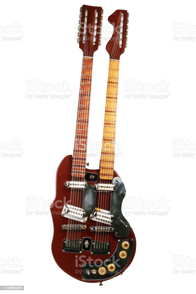 Double Neck Guitar stock photo