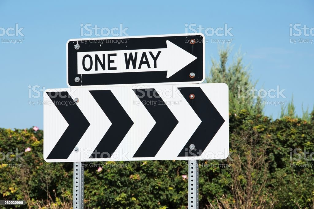Double One Way Signs royalty-free stock photo