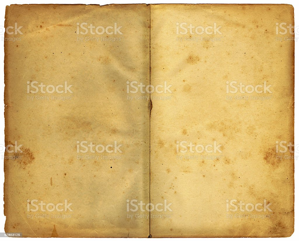 double page - 125 years old stock photo