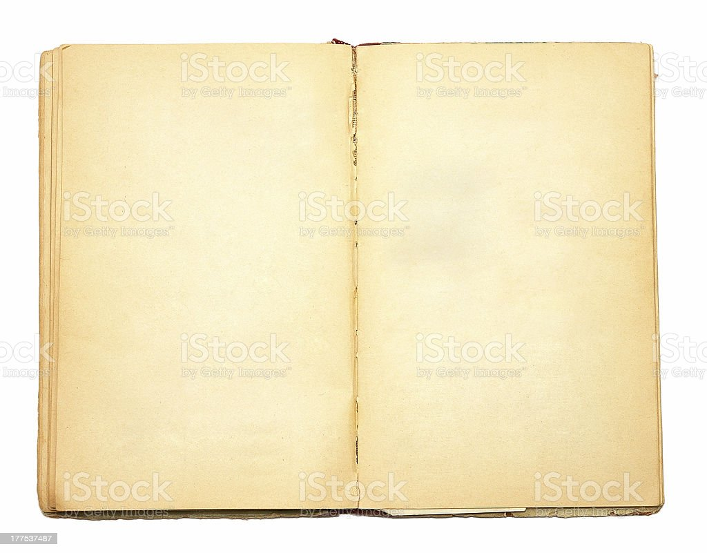 Double page of old book royalty-free stock photo
