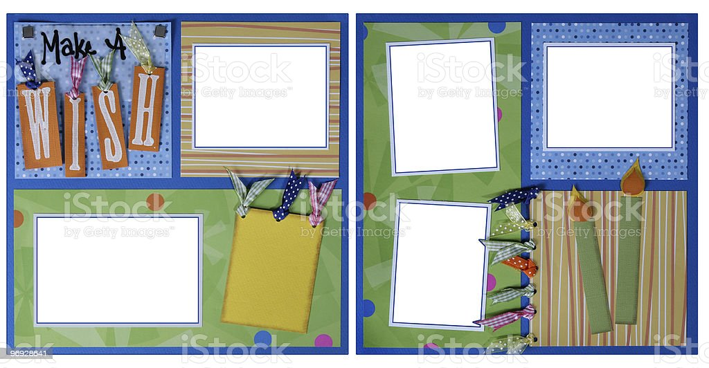 Double Page Scrapbook Layout Birthday royalty-free stock photo