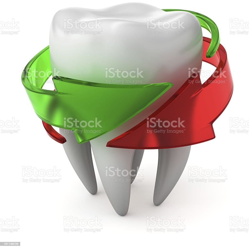 Double protected tooth stock photo