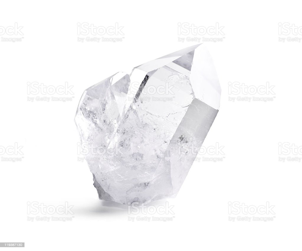 Double quartz crystal stock photo
