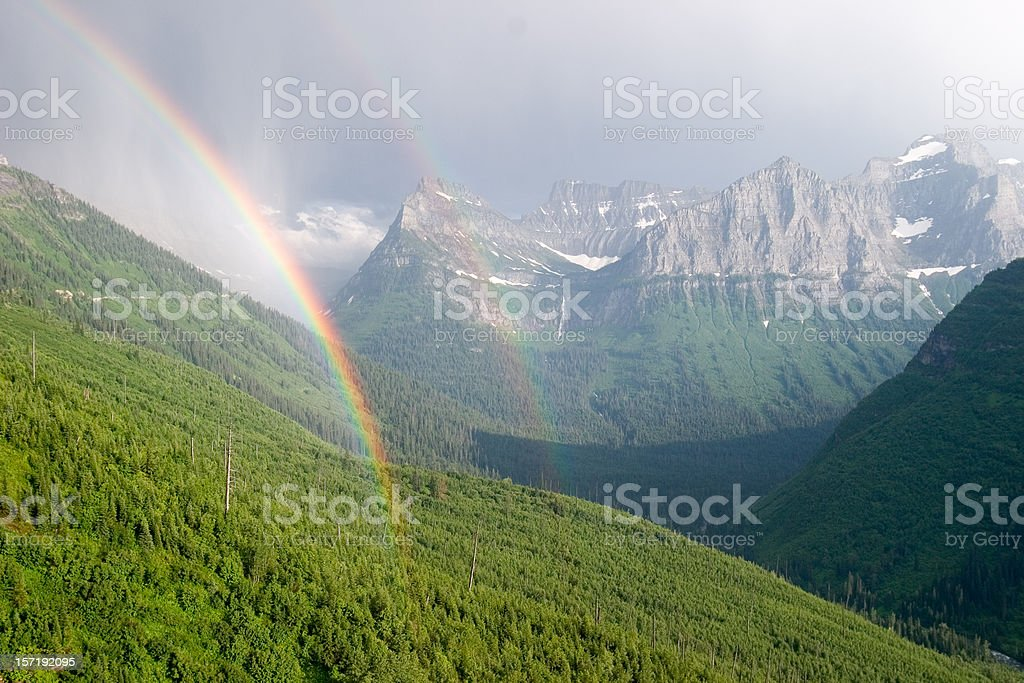 Double Rainbow in Paradise royalty-free stock photo