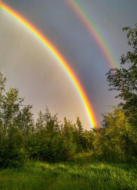 Doppelter Regenbogen – Foto