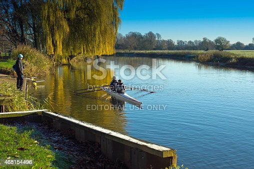 istock Double sculls training in Huntingdon 468154496