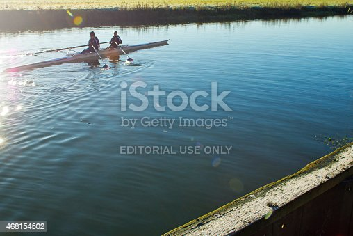 istock Double sculls training in Huntingdon 468154502