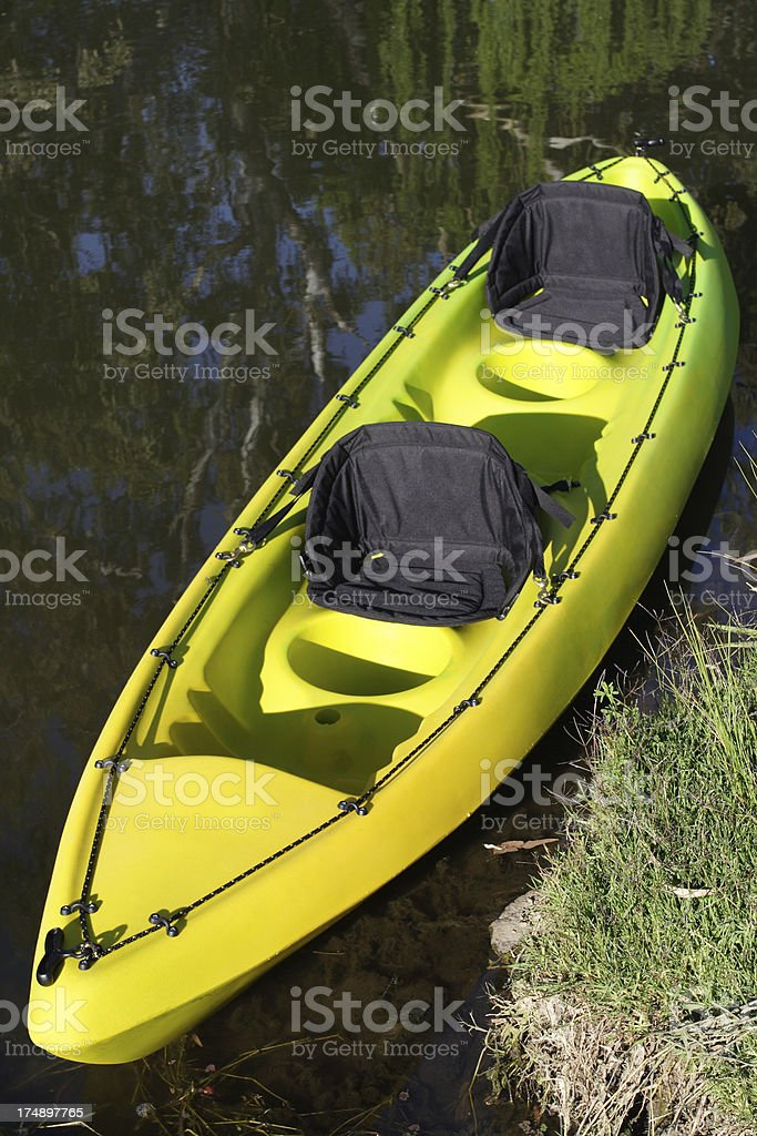 double seat kayak royalty-free stock photo
