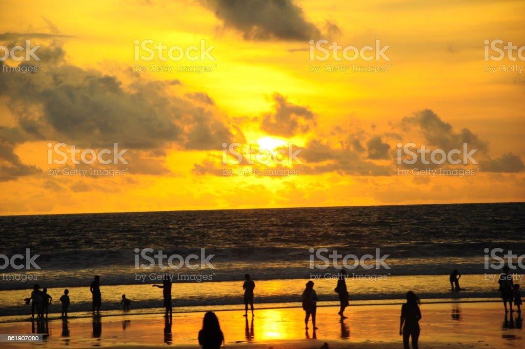 Double six beach in Bali stock photo