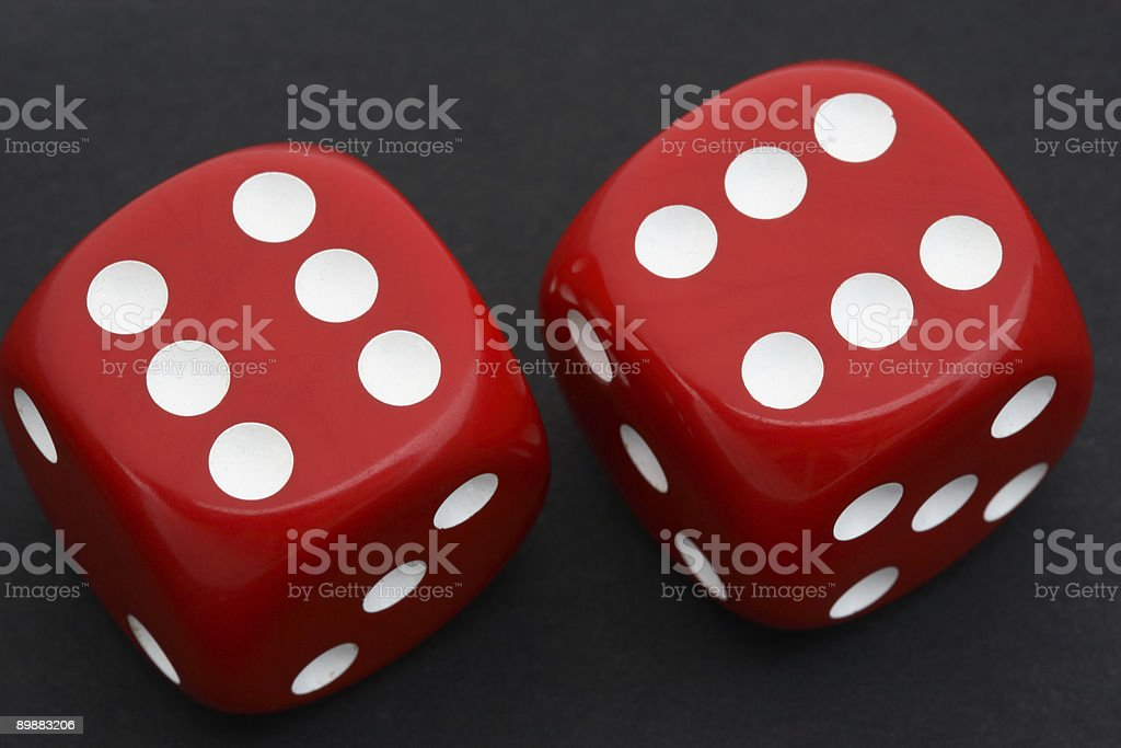 Double Six Dice royalty-free stock photo