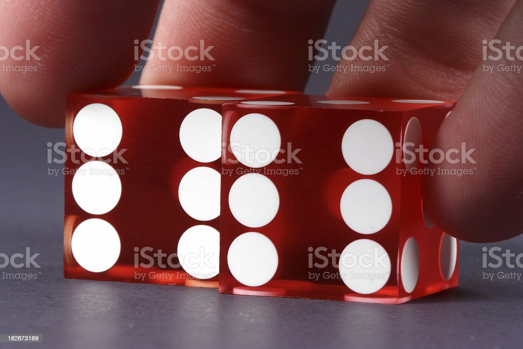 Double Sixes Casino Dice royalty-free stock photo