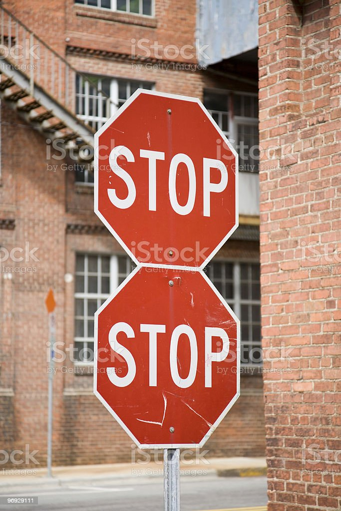 Double Stop royalty-free stock photo