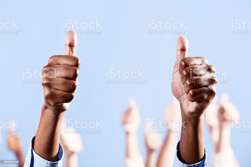 Double thumbs up for extra impact! royalty-free stock photo