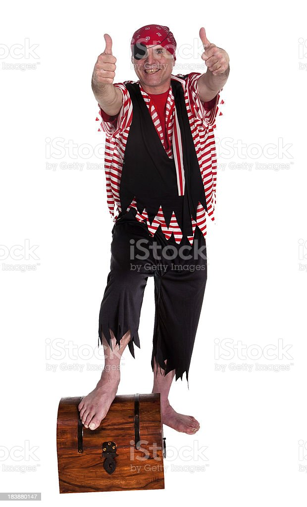 double thumbs up pirate royalty-free stock photo
