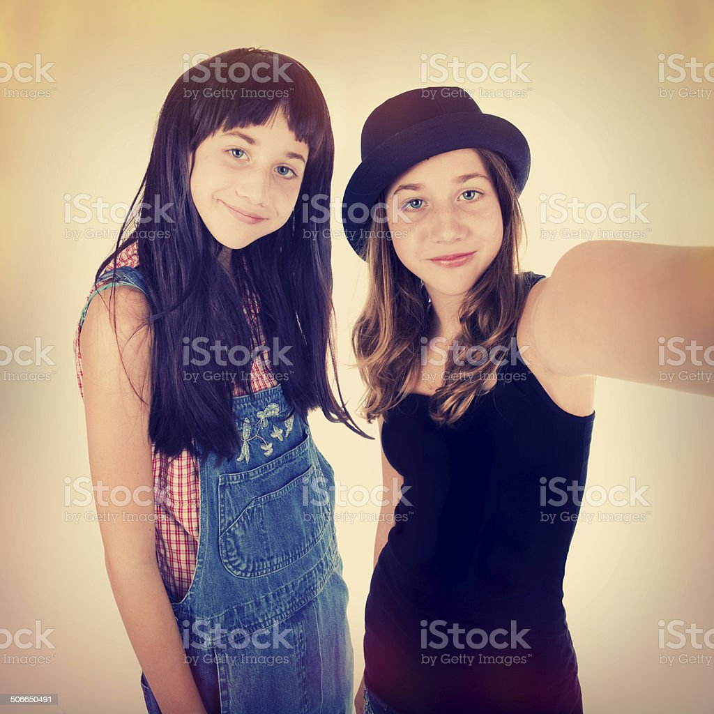 Double Trouble Selfie stock photo