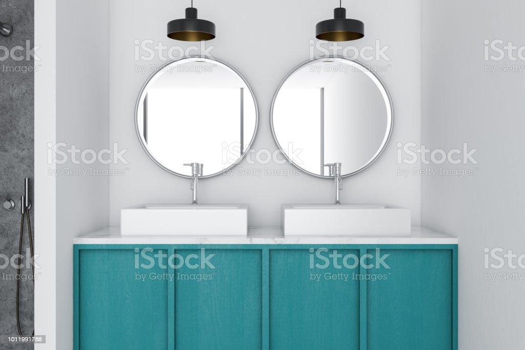 Photo libre de droit de Double Vasque Dans Une Salle De Bain ...