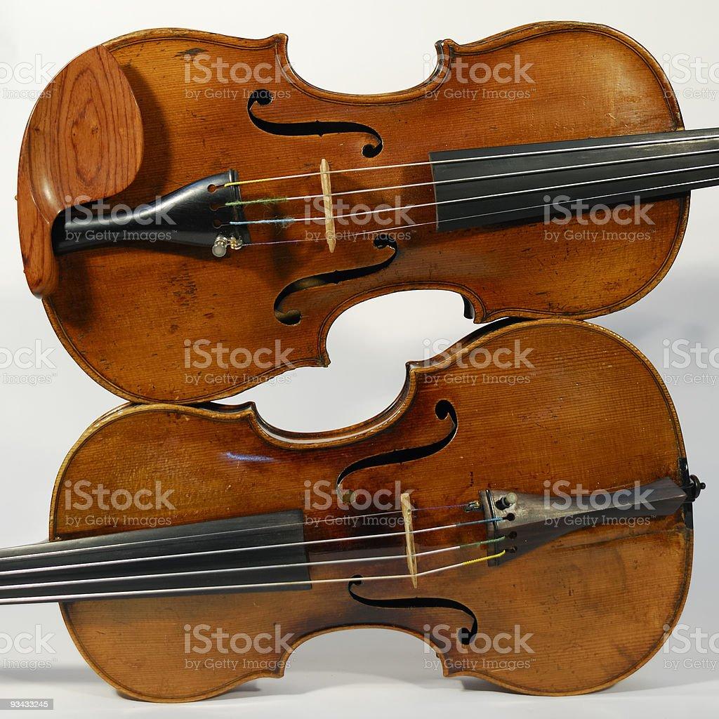 Mit Geige Lizenzfreies stock-foto