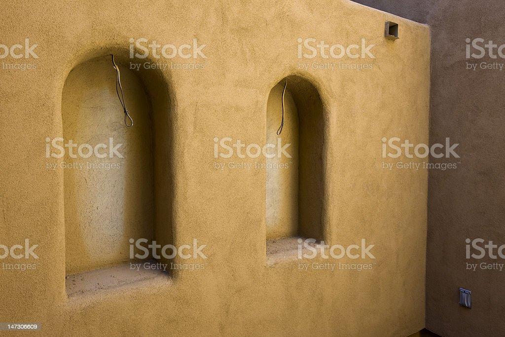 Doppelte Wand Nischen im Bau - Lizenzfrei Architektur Stock-Foto