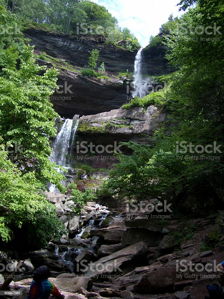Double Waterfall royalty-free stock photo