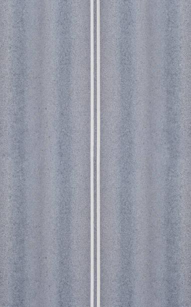 Doubles lignes blanches divisant les voies - Photo