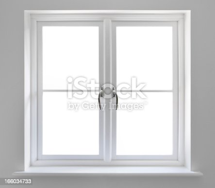 beautifully crafted white windows recessed into a grey coloured wall. The windows have been isolated to enable you to place an image of your choice in the background. A clipping path has been applied. For best results, in Photoshop turn background image into a layer, select path,