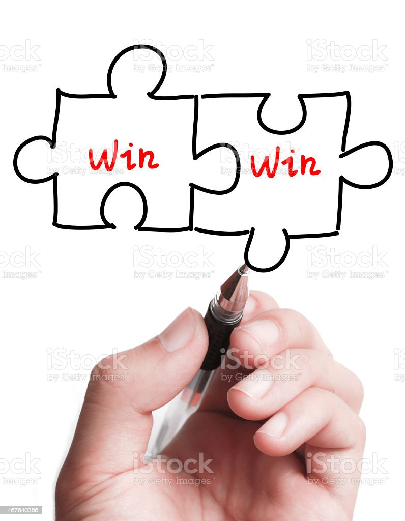 Double Win Puzzle Concept stock photo