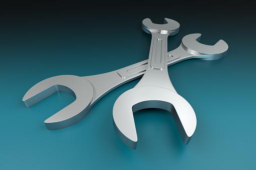 istock Double Wrench 526395381