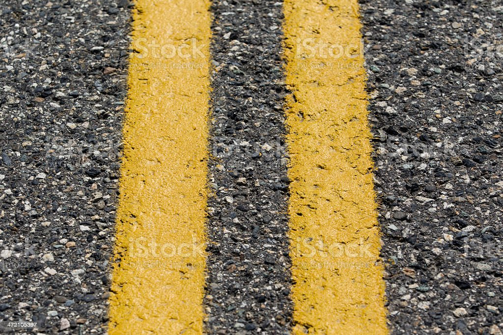 Double Yellow Line royalty-free stock photo