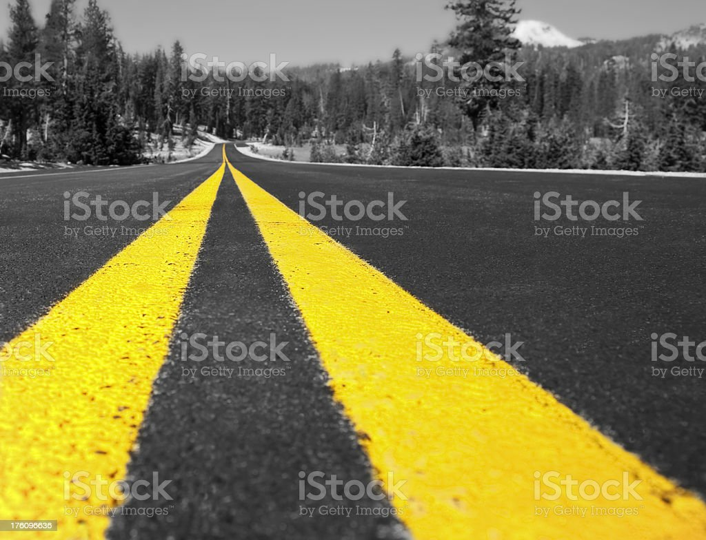 Double Yellow Lines royalty-free stock photo