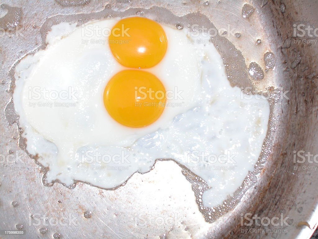 A double yolk egg royalty-free stock photo