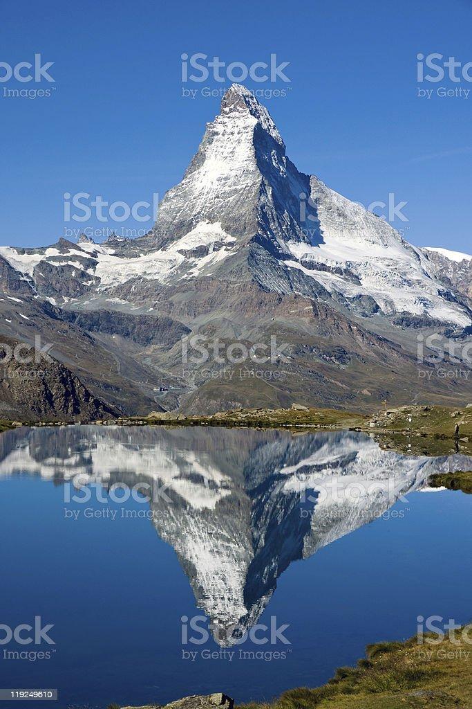 Doubled Matterhorn royalty-free stock photo