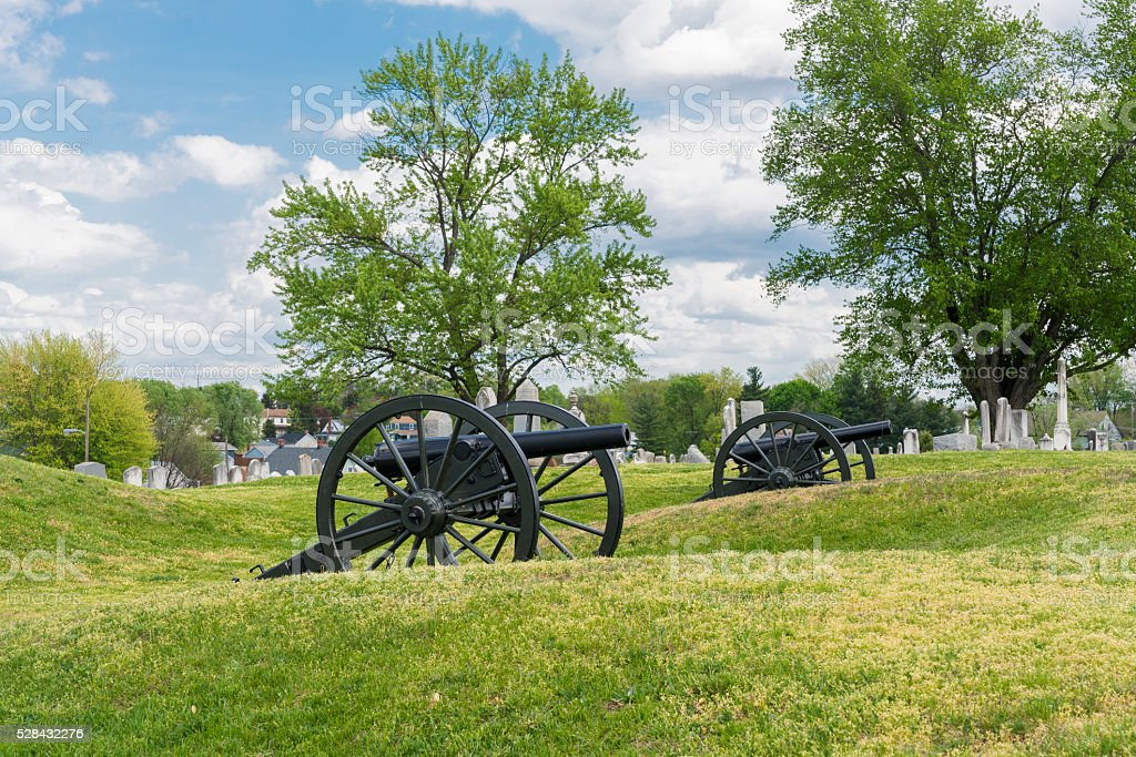 Doubleday Hill - Civil War's national monument, Williamsport, Maryland, USA stock photo