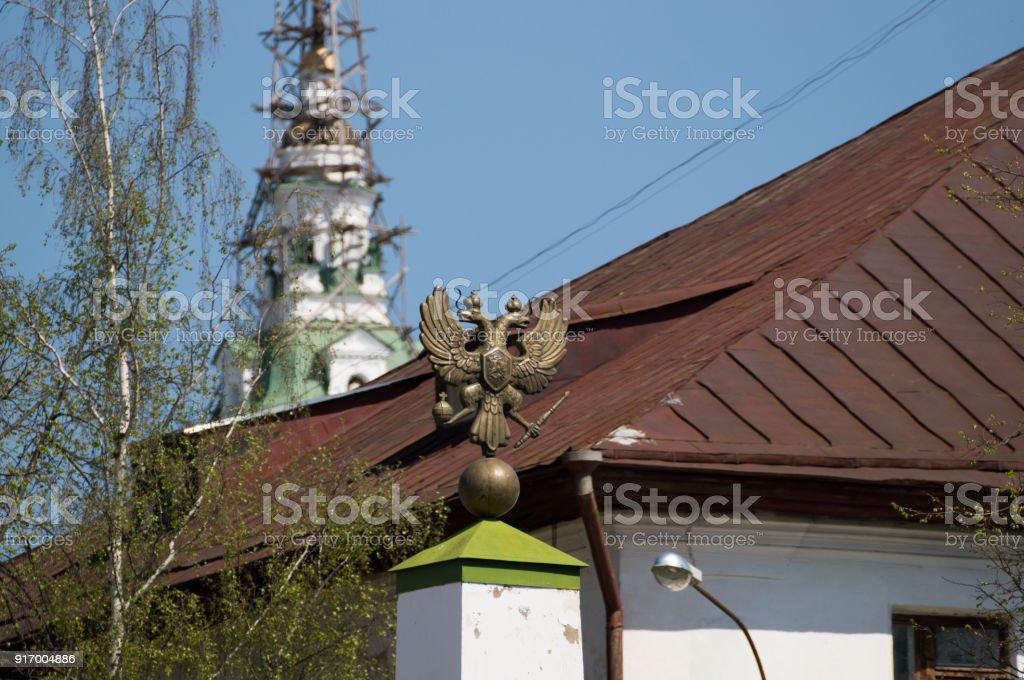 Double-headed eagle stock photo