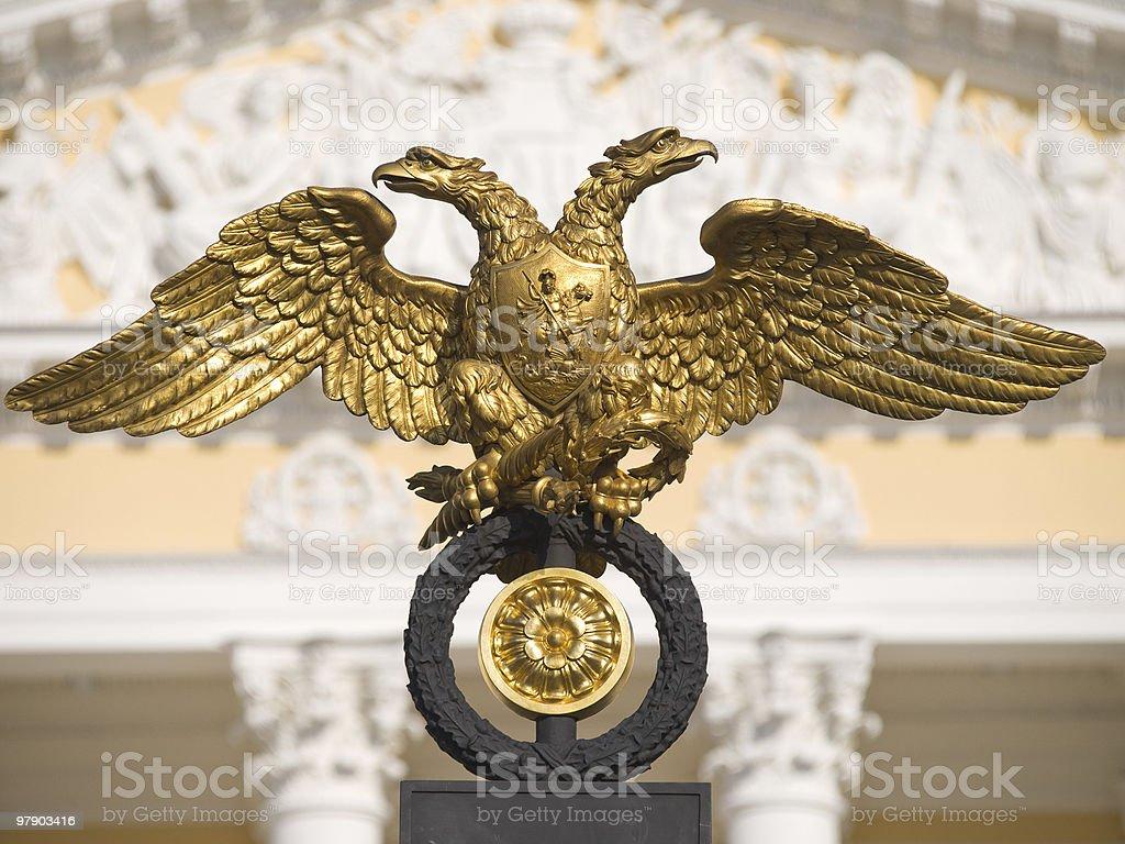 Double-headed eagle royalty-free stock photo