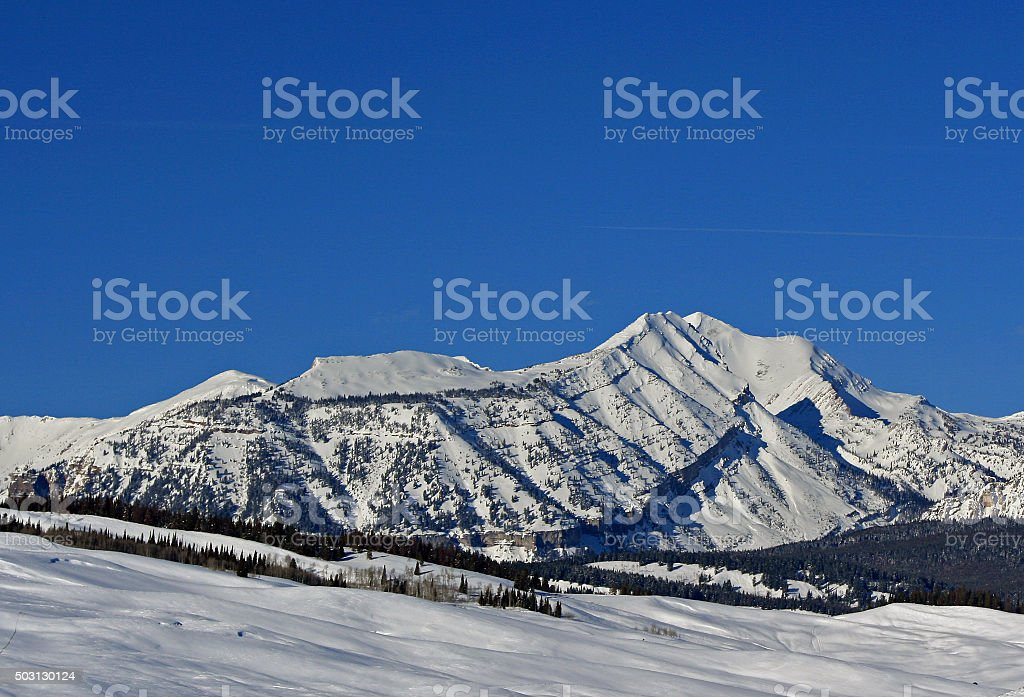 Doubletop Mountain Summit in the Gros Ventre Range stock photo