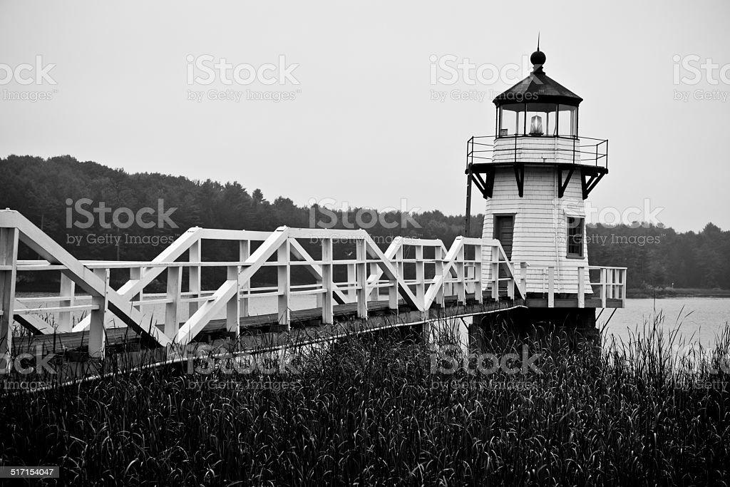 Doubling Point Lighthouse Near Bath, Maine stock photo