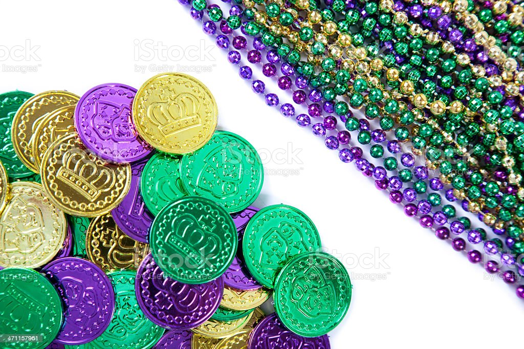 Doubloons and Beads stock photo