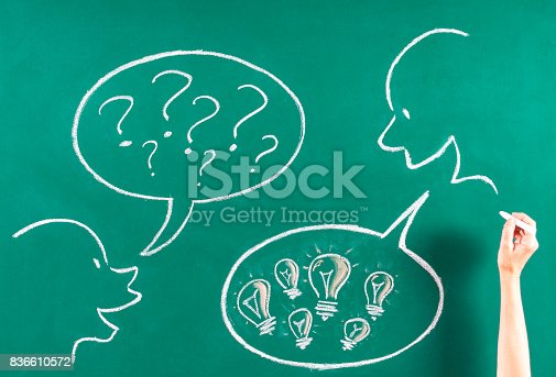 185325970 istock photo Doubt and solution concept on blackboard 836610572
