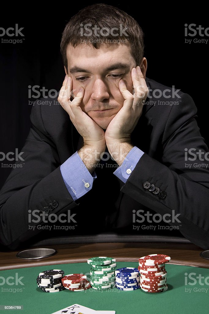 Doubt in the casino royalty-free stock photo