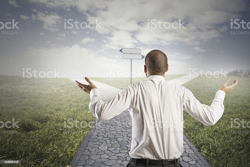 Doubt royalty-free stock photo