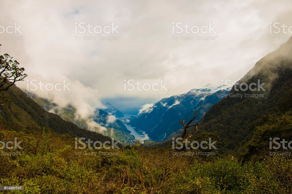 Doubtful Sound - An Overlook stock photo