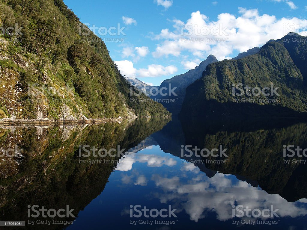 Doubtful Sound, Fiordland, NZ stock photo